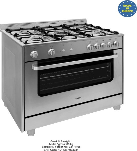 Verwonderend bol.com | Germania RVS 5 pits gasfornuis met gas oven*** YT-42
