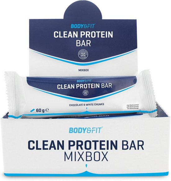 Body & Fit Clean Protein Bars Mix Box - Eiwitreep - 12 eiwitrepen (4x3 smaken)