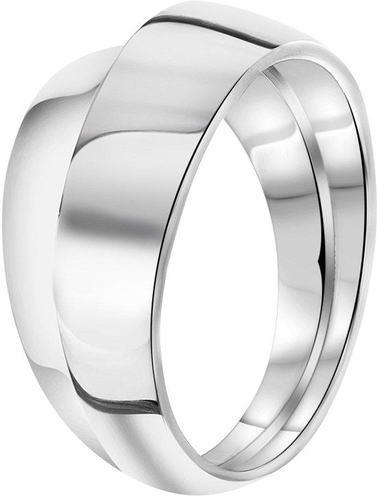 Lucardi - Zilveren ring mat/glans