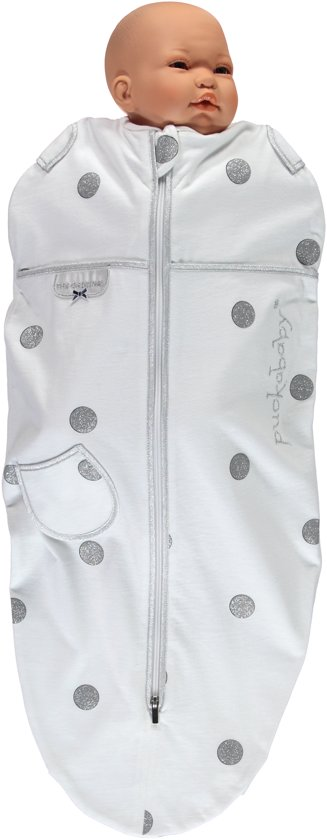 Puckababy Mini Inbakerslaapzaki 3-6 mnd - White Dotty