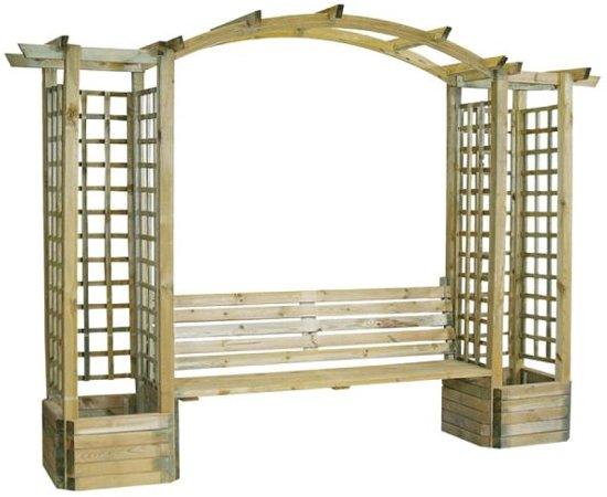 pergola romanti zitbank rozenboog hout. Black Bedroom Furniture Sets. Home Design Ideas