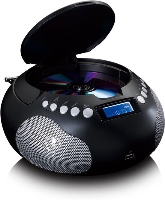 Lenco SCD-331 - Draagbare Radio CD-speler met MP3 en Bluetooth - Zwart