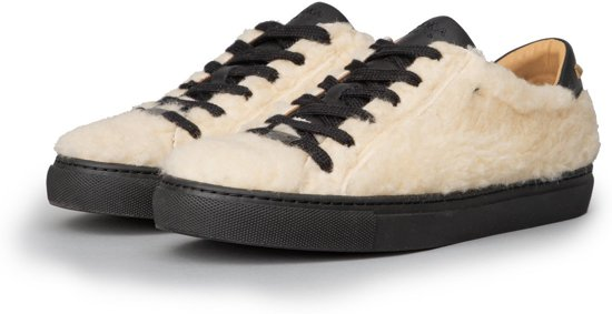 KUNOKA Molly 2.1c reversed - Sneakers Dames - Wit Omgekeerd Schaap