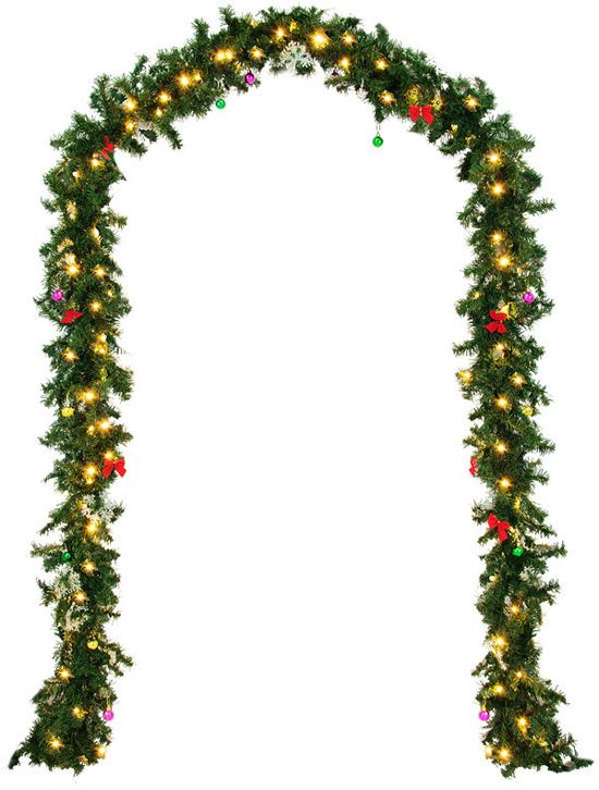 Monzana Decoratieve - Kerstguirlande - 5mtr - 80xLED -in/outdoor