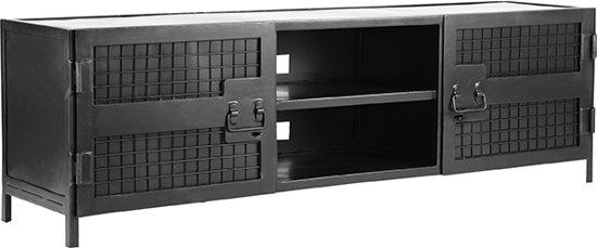 Label51 Tv Meubel Gate Zwart Metaal Industrieel 160x40x50 Cm