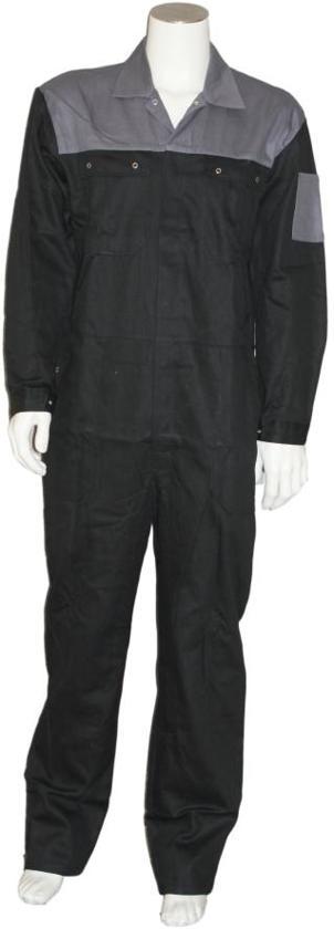 Yoworkwear Overall 100% katoen 2-kleurig zwart-grijs maat 55