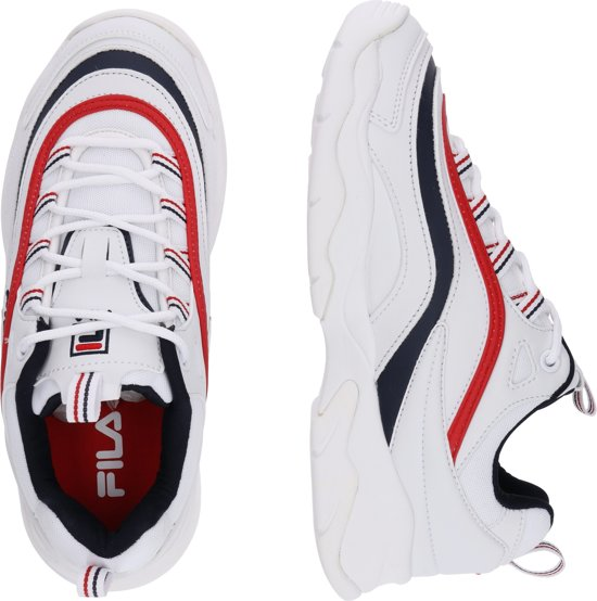 0a79ee83d59 ... Fila Ray Low Sneakers Dames - White/Fila Navy/Fila Red - Maat 38 ...