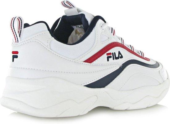 b13553aa238 Top Honderd | Fila Ray Low Sneakers Dames - White/Fila Navy/Fila Red ...