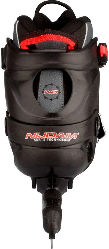 Nijdam 3423 Norenschaats - Semi-Softboot - Zwart/Antraciet/Rood - Maat 41