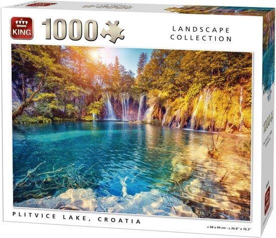 Afbeelding van King Puzzel 1000 Stukjes (68 x 49 cm) - Plitvice Lake - Legpuzzel - Landschap - Volwassenen speelgoed