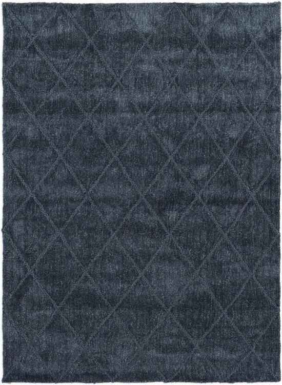 Modern tapijt met ruitdessin blauw - 155 x 220 cm