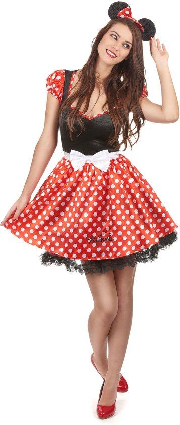 Disney Sassy Minnie Mouse - Kostuum Volwassenen - Maat S - 34/36 - Carnavalskleding