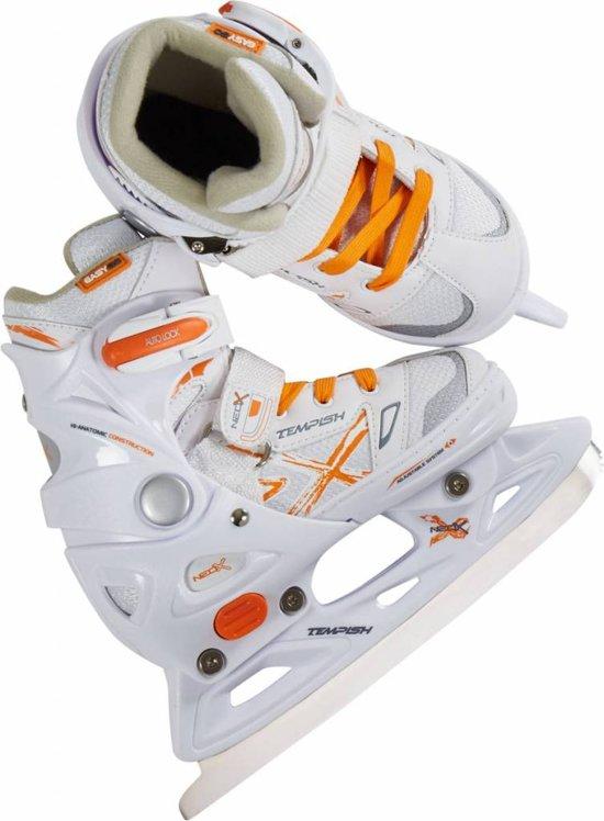 Tempish Kunstschaatsen verstelbaar NEO-X ICE Girl Wit/Oranje 33-36