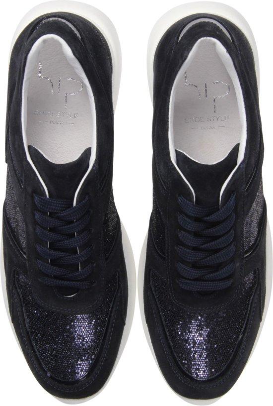 Hip Vrouwen Sneakers - D1595 Blauw Maat 40 1GM6ylLX