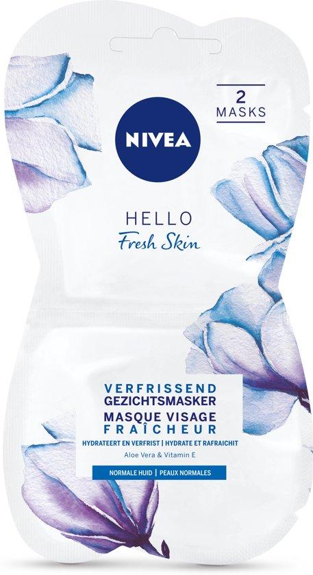 NIVEA Essentials Verfrissend Hydraterend Masker - 2 x 7,5 ml