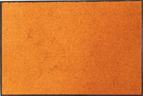 Entreemat / droogloopmat van super kwaliteit Wash & Clean  Oranje 90x120cm