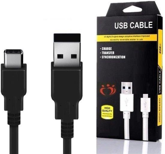 Olesit K107 Type C USB Kabel 1.5 Meter 30% Sneller Laden - 2.1A Lader High Speed Laadsnoer Oplaadkabel - Data Sync + Tranfer - USB C Lader - geschikt voor Samsung Galaxy S9 (Plus),S8 (Plus), C9 Pro,Note 8/9, A7/A5/A3 2017, A6/A8 2018 (Plus) - Zwart