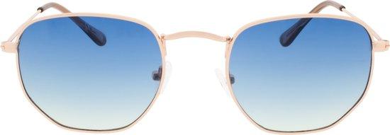 Icon Eyewear Zonnebril AUGUST - Goudkleurig montuur - Blauwe Glazen