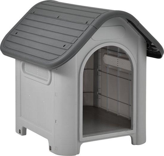 [en.casa]® Hondenhok - hondenhuis - kunststof