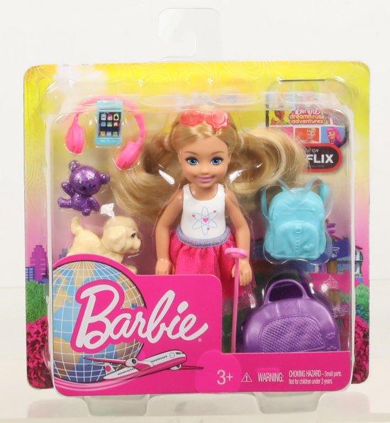 Barbie Travel Chelsea Reisplezier Met Accessoires