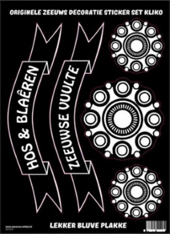 Origineel set kliko decoratie stickers met Zeeuwse knop