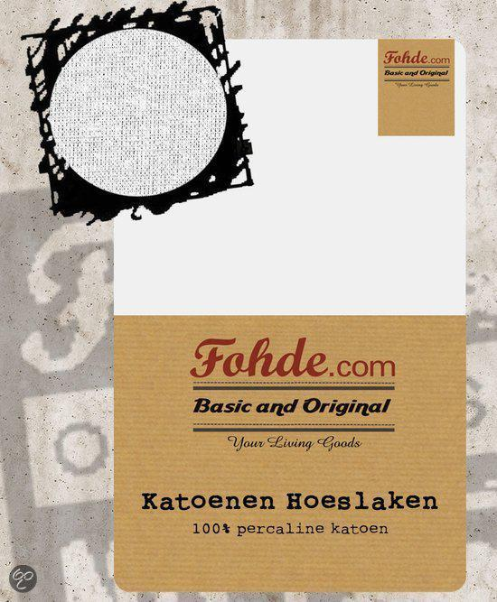 Fohde Hoeslaken Katoenen hoeslaken - 140 X 200 cm - Wit