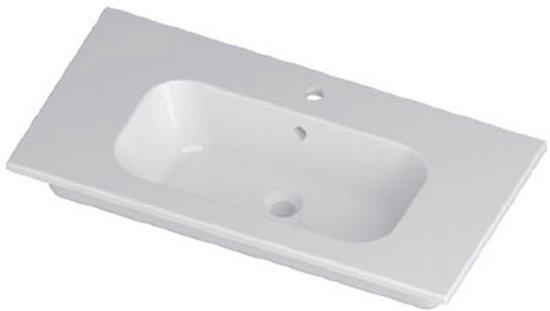 Bol.com aqualux fp10 wastafel 100cm keramisch wit