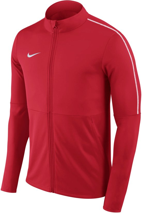 Nike Dry Park 18 Trainingsjas Junior Trainingsjas - Maat M  - Unisex - rood/wit Maat M - 140/152
