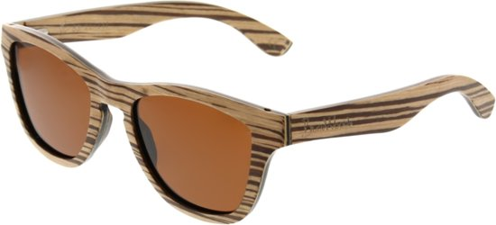 cfbe26a9e34862 Wodan Zebra - Houten zonnebril - Hout - Unisex - Bruin