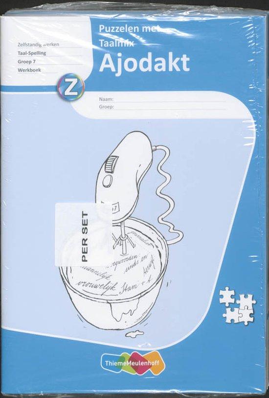 Ajodakt Puzzelen met Taalmix 5x Gr 7 Werkboek