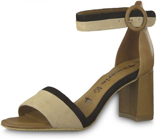 | Sandalen sandaletten hak beige chocolat mt 36