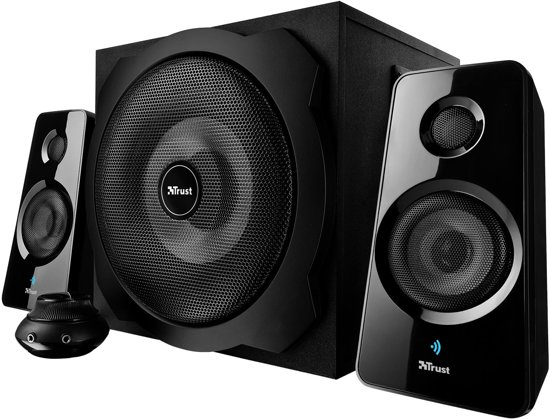 Trust Tytan 2.1 -Subwoofer Speakerset met Bluetooth - Zwart