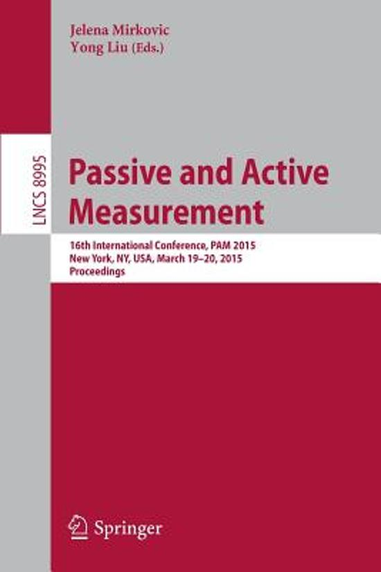 Passive and Active Measurement