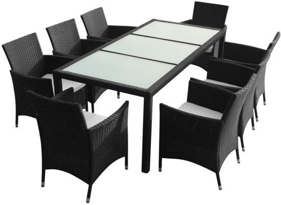 Wicker Eettafel Set Met 8 Stoelen En 4 Krukken Zwart.Bol Com Vidaxl Tuinset Intenza 8 Persoons Wicker Zwart
