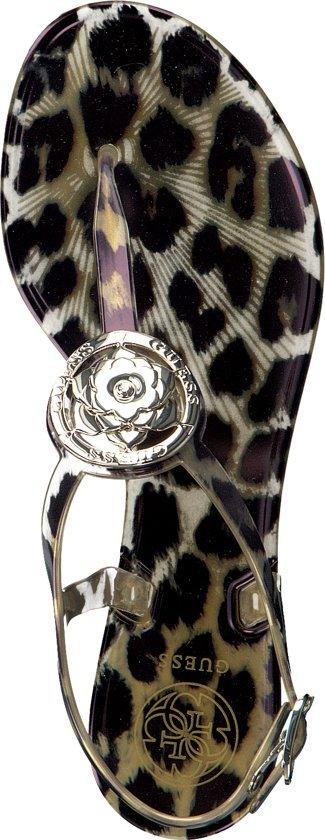 Guess Jaxx/thong Dames Slippers - Leopard Maat 36 djrAE8a2