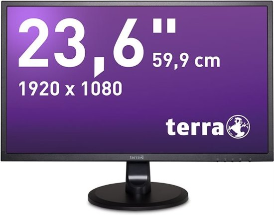Wortmann AG 3030029 23.6'' Full HD LED Flat Zwart computer monitor LED display