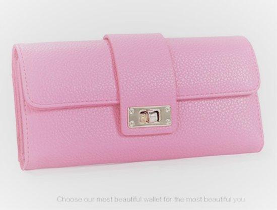 Mooie Dames Portemonnee.Bol Com Fashionidea Mooie Multifunctionele Roze Kunstleren Dames