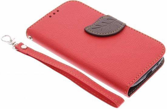 Fuchsia Conception De Feuille De Cas Booktype Tpu Pour Samsung Galaxy S3 / Neo tuytX