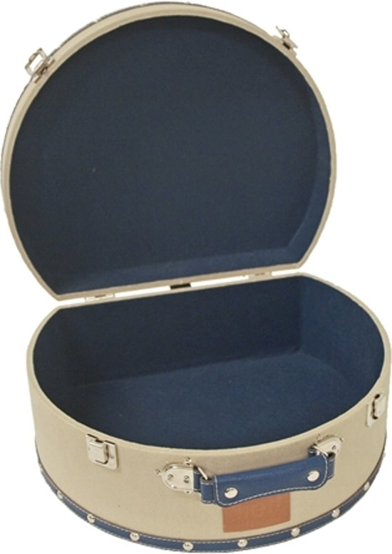 Lief! Kattenmand Koffer Uni Beige/Blauw - 37X30X11 CM
