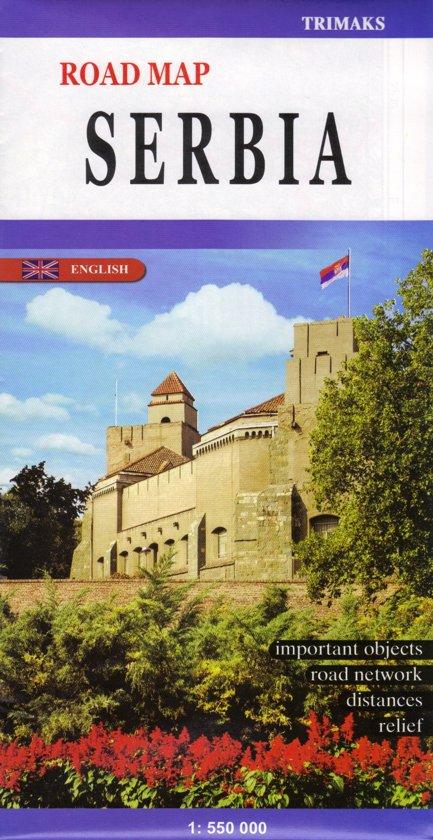 Landkaart - wegenkaart Servie - servië  | Trimaks kaart