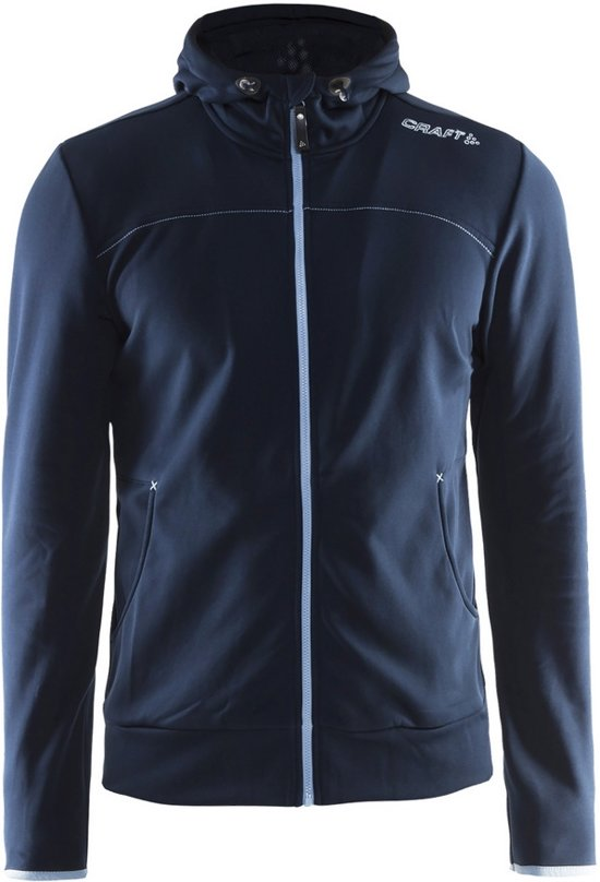 Craft Leisure Full Zip Hood Men dark navy M