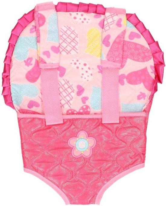 Babypoppen draagzakken roze - Speelgoed poppendrager fuchsia