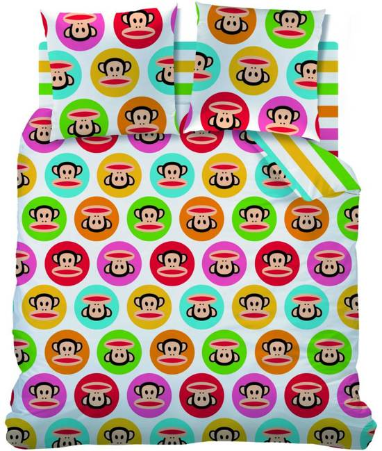 Paul Frank Flashy White - Dekbedovertrek - Lits Jumeaux - 240 x 220 cm - Wit