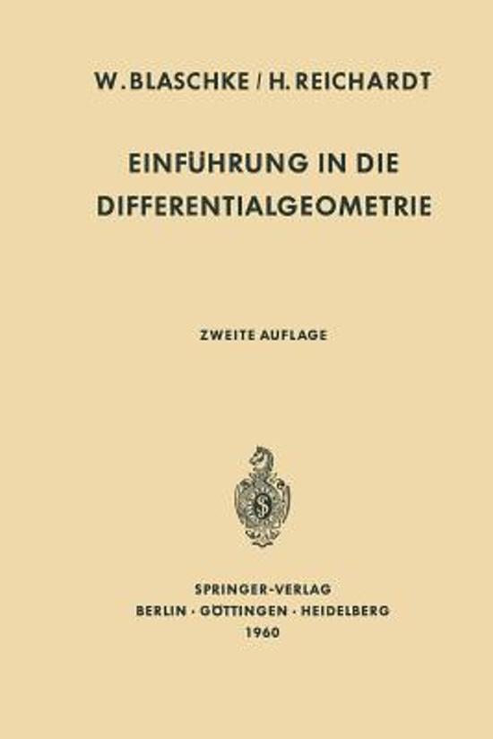 Einf hrung in Die Differentialgeometrie