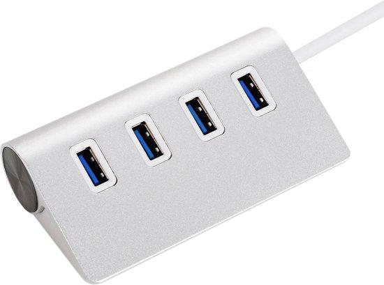 4 Poorten USB 3.0 Hub / Verdeler / Switch / Splitter - Zilver Kleurig