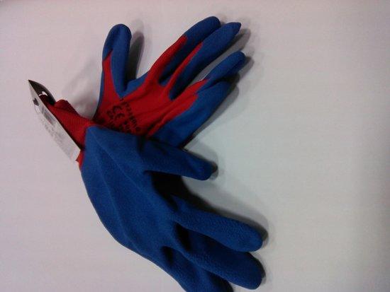 Soft Latex Werkhandschoen M 10'- XL Polyester Naadloos, 1,7mm dikke antislip coating, Hoge scheur en