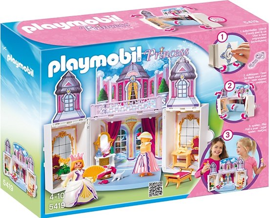 Playmobil speelbox prinsessenprieel 5419 for Playmobil chambre princesse