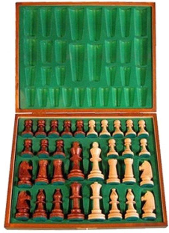 Staunton 5 schaakstukken in luxe houten doos