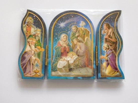 Kerstvoorstelling op drieluik