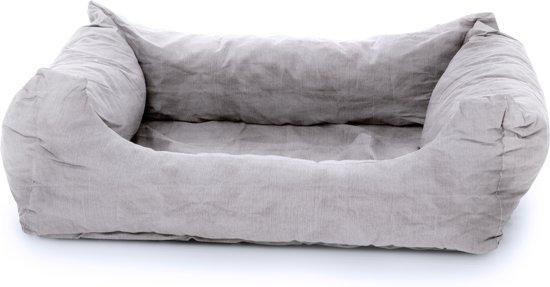 Rebel Petz Box Bed Hondenmand - M - 100 x 80 cm - Licht Grijs